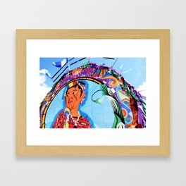 Guatemala - Flying Kite Framed Art Print