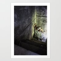 Don't go in the basement. Art Print