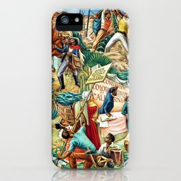 """African American Classical Masterpiece """"Justice Under the Law"""" by Hale Woodruff iPhone Case"""