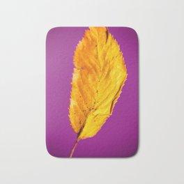 Purple in Autumn Leaf Bath Mat