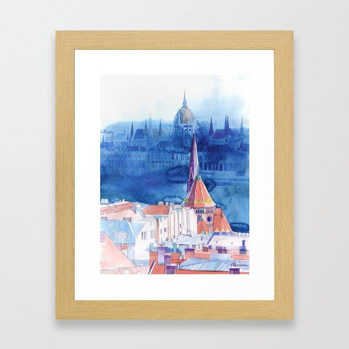 Morning in Budapest Framed Art Print