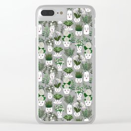 Face Vase Clear iPhone Case