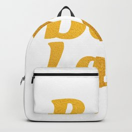 Boss Lady in Cursive Bold Gold Backpack