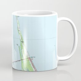Northern Outer Banks North Carolina Map (1985) Coffee Mug