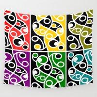 maori Wall Tapestries featuring Maori Kowhaiwhai Pattern by mailboxdisco