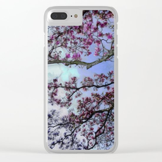 Cherry Blossoms II Clear iPhone Case