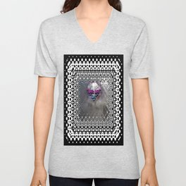 """""""Beez Lee Art : Foggy Square Point of View"""" Unisex V-Neck"""