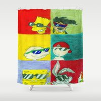 90s Shower Curtains featuring 90s Cool Kids by Artistic