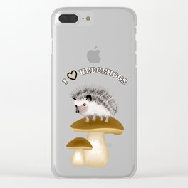 Hedgehogs Clear iPhone Case