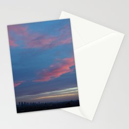 PinkSky Lines Stationery Cards