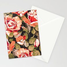 Red flowers pattern Stationery Cards