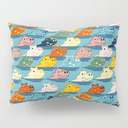 Happy Hippo Family Pillow Sham
