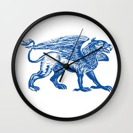 Gryphon-Blue Wall Clock
