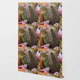 Banksia and Protea blooms Wallpaper