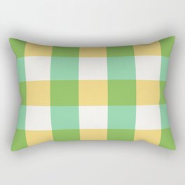 mint yellow plaid Rectangular Pillow