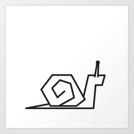 Minimalist Snail Art Print