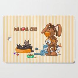 Rabbit catlover Cutting Board