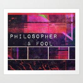 Philosopher & Fool - Red Mountain Art Print