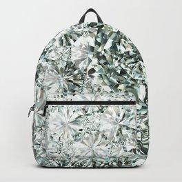 White Diamond Abstract Art Pattern 04 Backpack