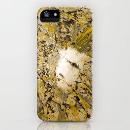 Aluminum, Yellow, Flat black Splash iPhone Case