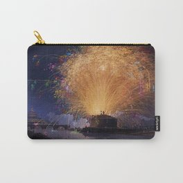Fireworks on Castel Sant'Angelo & Tiber River, Rome, Italy by Jacob Philipp Hackert Carry-All Pouch
