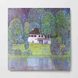 "Gustav Klimt ""Schloss Kammer on the Attersee III"" Metal Print"