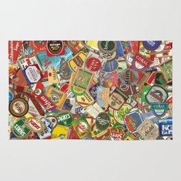 Another Beer Labels Rug
