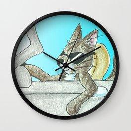 Tiger's Roadtrip Wall Clock