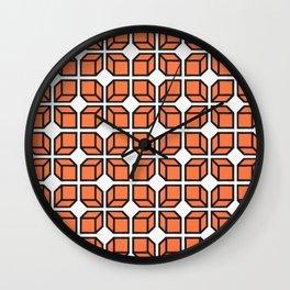 'Retro Geo Design' Wall Clock