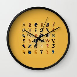 Eclectic Letters #2 Wall Clock