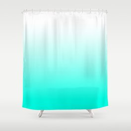 Mint Ombre Shower Curtain