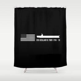 CVN-78 Shower Curtain