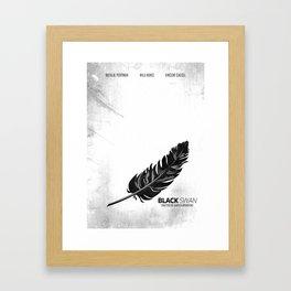 Black Swan - Minimal Framed Art Print