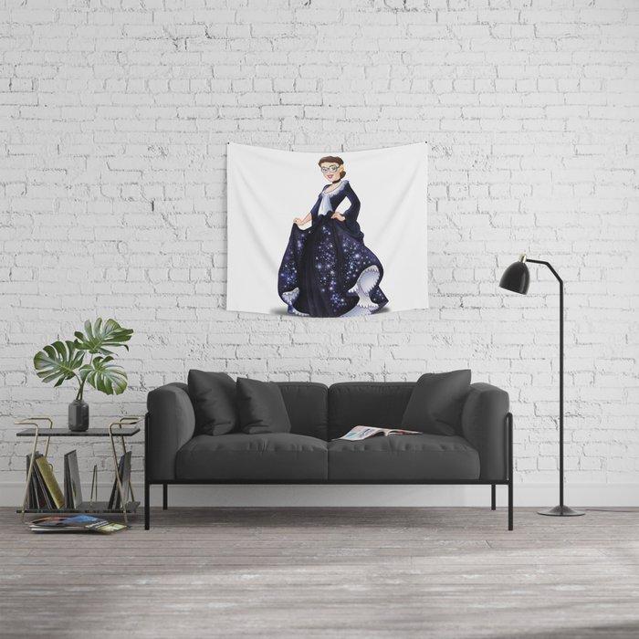 Great Princess Ruth Bader Ginsberg Trumble Cartoon Wall Tapestry With Bader  Sofa