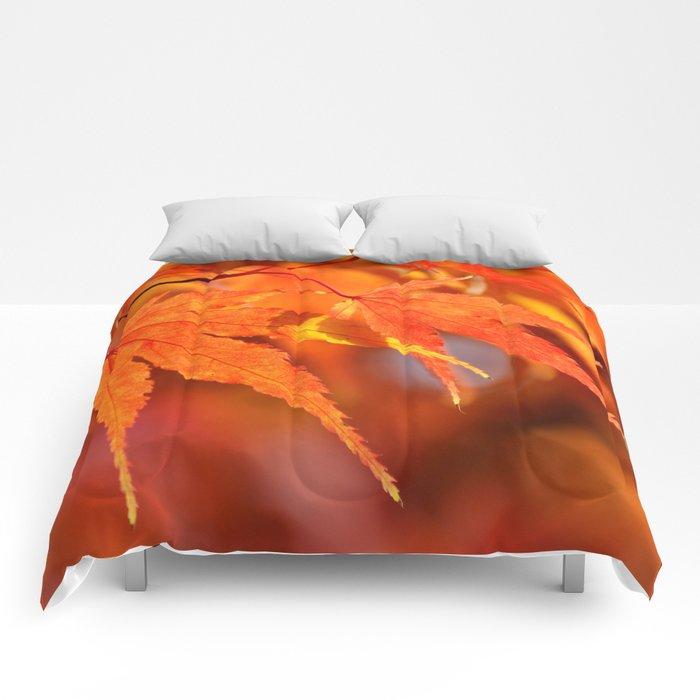 OH SO PRETTY - FALL LEAVES Comforters