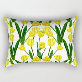 Tulip_Netherlands_Yellow Tulip drawing Rectangular Pillow