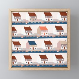 A house by the sea Framed Mini Art Print