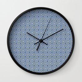 Greek Spiral Pattern   Greek Key Pattern   Classic Patterns   Vintage Patterns   Blue and White    Wall Clock