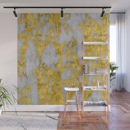 Luxury 24-Karat Gold Marble on Velvet Cream Wall Mural