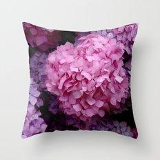 Spring Hydrangeas 3 Throw Pillow