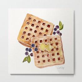 Blueberry Breakfast Waffles Metal Print