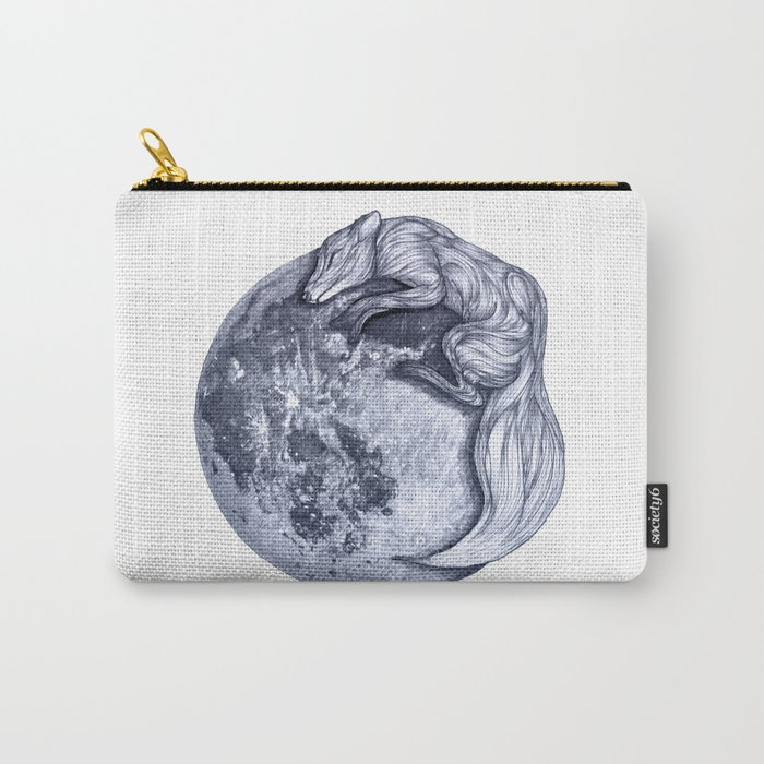Blue Moon Fox Carry-All Pouch