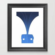 Silhouette Racers - Volkswagen Bus Framed Art Print
