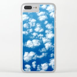 Clouds in the sky pattern Clear iPhone Case