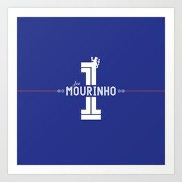 José Mourinho Stamford Bridge Chelsea Art Print