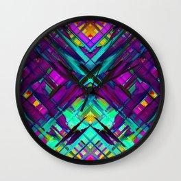Colorful digital art splashing G472 Wall Clock