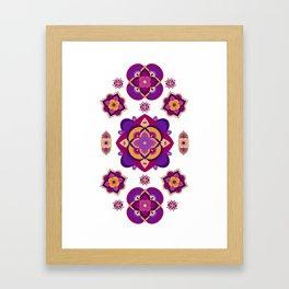 Mandala-Purple and Pink Framed Art Print