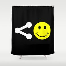 Share Happiness Shower Curtain
