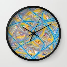 Satin Waves Wall Clock
