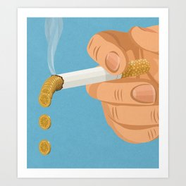 burning money Art Print